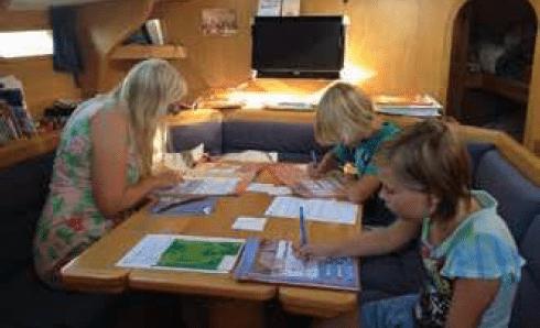 Nederlandse les tijdens zeilreis