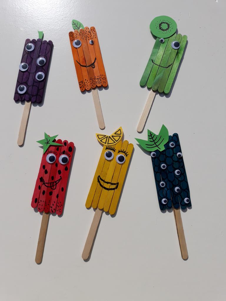 fruitijsjes met ijlollystokjes zomer knutselopdracht