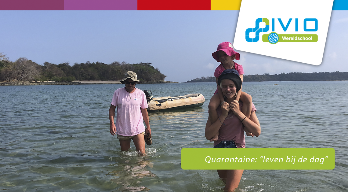 Quarantaine gezin op reis