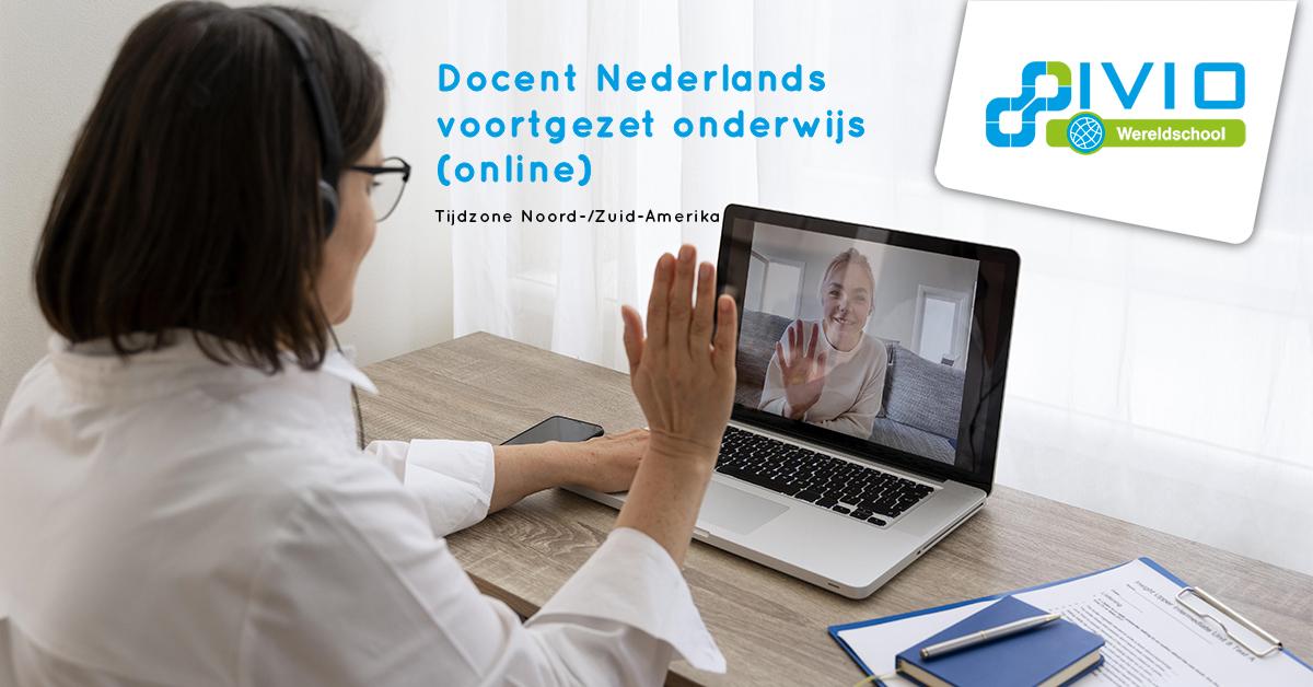 vacature docent Nederlands online noord zuid amerika